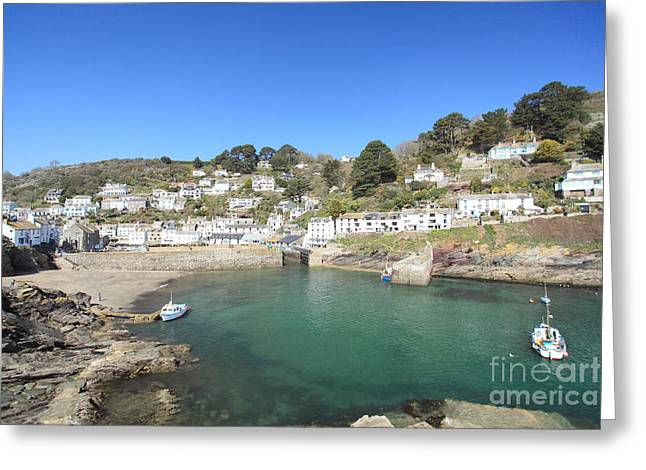 Polperro Greeting Card by Carl Whitfield