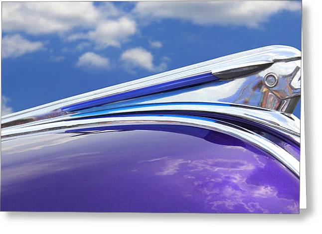 Vintage Hood Ornaments Digital Art Greeting Cards - Pontiac Hood Ornament Greeting Card by Mike McGlothlen