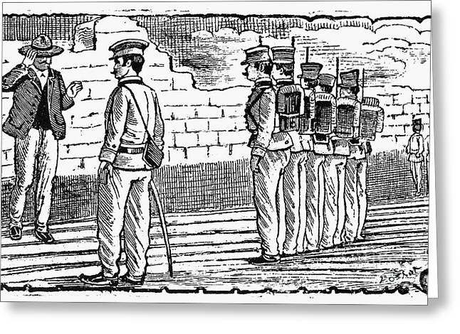Mexican Revolution Greeting Cards - Posada: Firing Squad Greeting Card by Granger