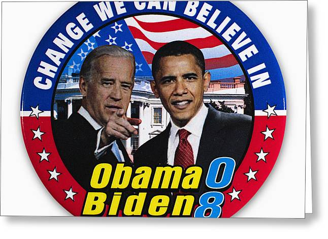 Vice President Biden Greeting Cards - Presidential Campaign, 2008 Greeting Card by Granger