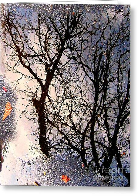 Tress Greeting Cards Greeting Cards - Puddle Art Greeting Card by Dale   Ford