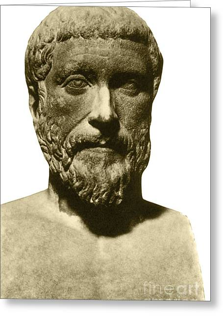 Pythagoras Greeting Cards - Pythagoras, Greek Mathematician Greeting Card by Photo Researchers