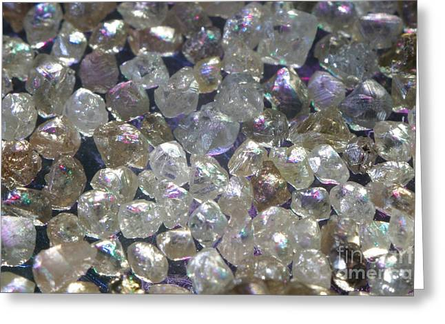 Uncut Greeting Cards - Raw Diamonds Greeting Card by Ted Kinsman