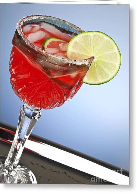 Grenadine Greeting Cards - Red cocktail drink Greeting Card by Blink Images