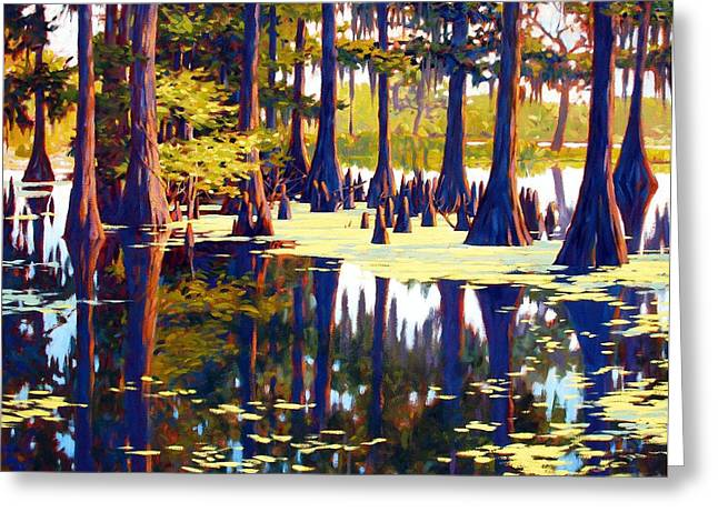 Algae Paintings Greeting Cards - Reflections Greeting Card by Kevin Lawrence Leveque