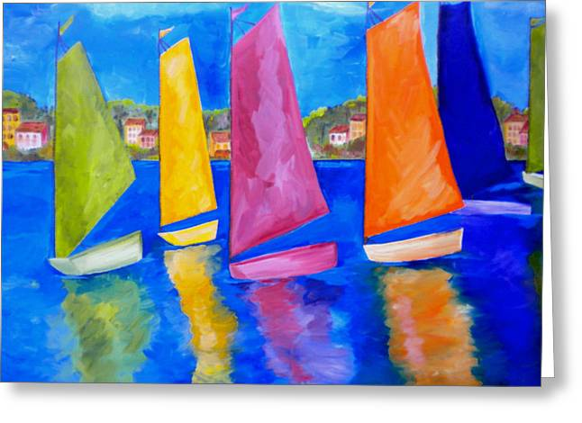 Virgin Paintings Greeting Cards - Reflections of Tortola Greeting Card by Patti Schermerhorn