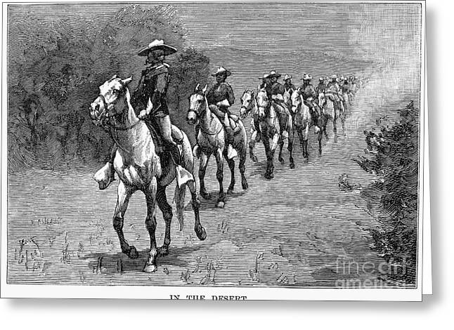 U.s Army Greeting Cards - REMINGTON: 10th CAVALRY Greeting Card by Granger
