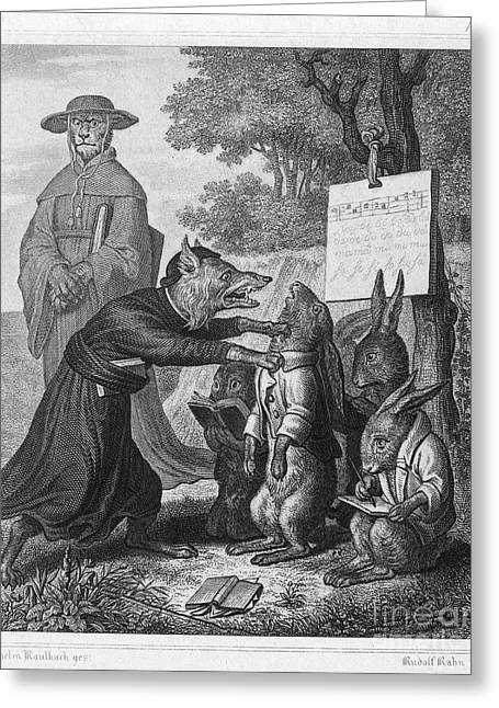 Fabled Greeting Cards - Reynard The Fox, 1846 Greeting Card by Granger
