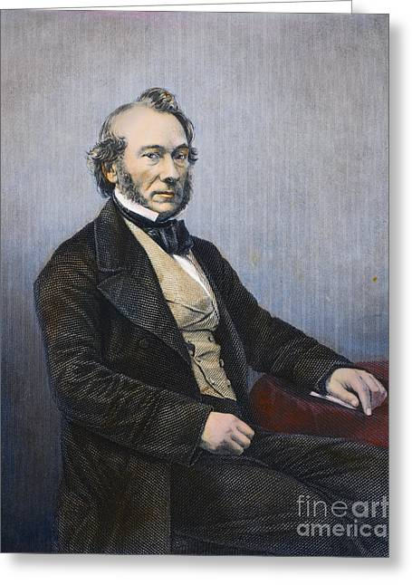 Faire Greeting Cards - Richard Cobden (1804-1865) Greeting Card by Granger