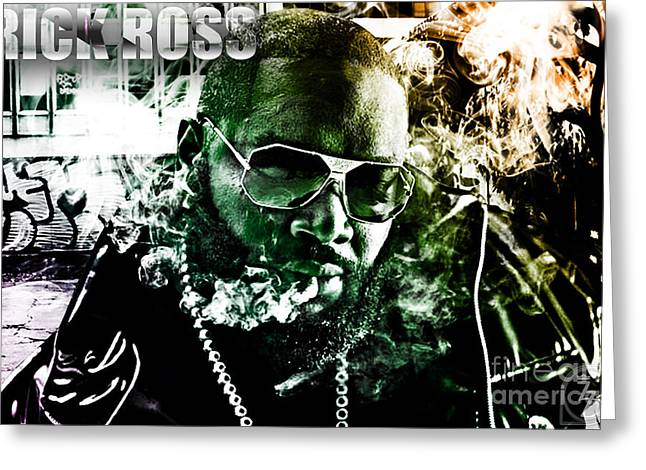 Rick Ross Greeting Card by The DigArtisT