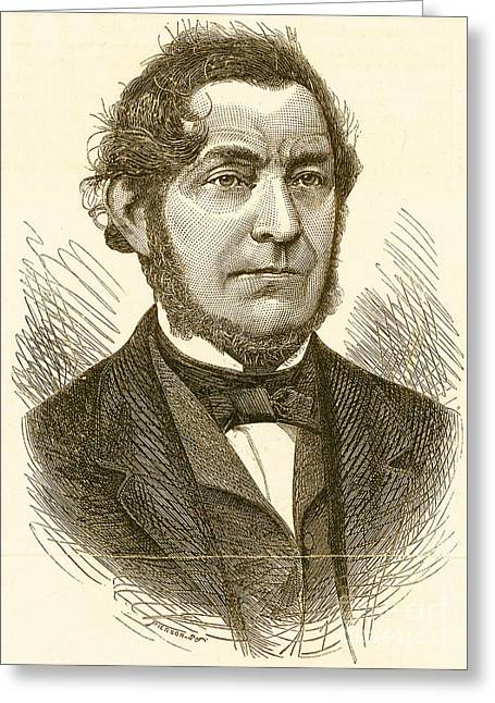 Robert Bunsen, German Chemist Greeting Card by Science Source