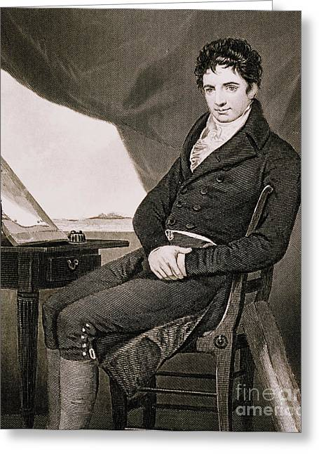 Warship Drawings Greeting Cards - Robert Fulton, American Engineer Greeting Card by Science Source