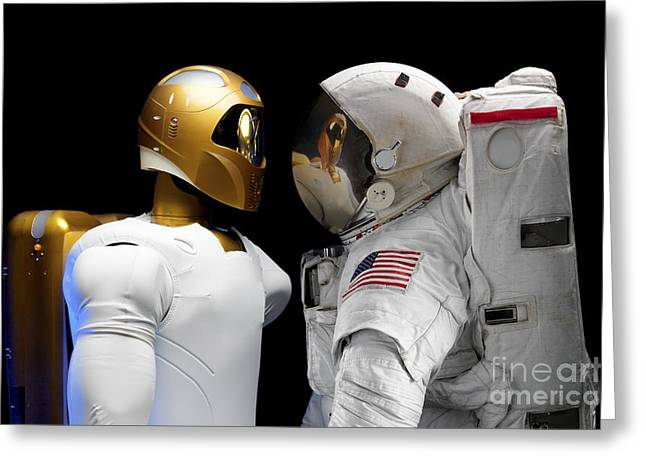 Dexterous Greeting Cards - Robonaut 2, A Dexterous, Humanoid Greeting Card by Stocktrek Images