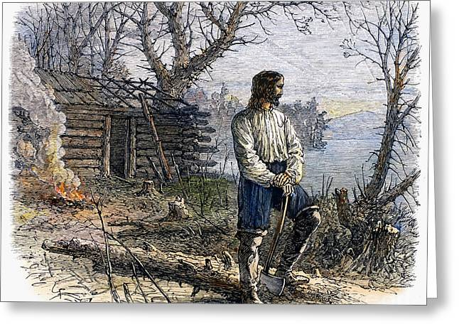 Log Cabins Greeting Cards - Roger Williams (1603-1683) Greeting Card by Granger