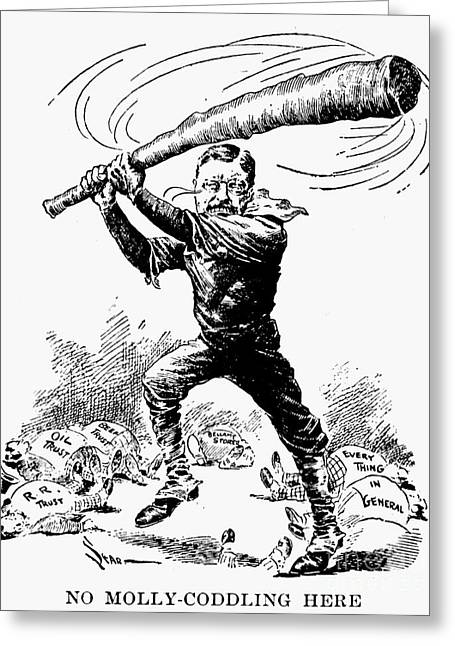 Antitrust Greeting Cards - Roosevelt Cartoon, 1904 Greeting Card by Granger