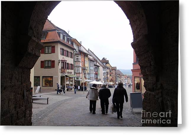 Rottweil Germany Greeting Card by Ingrid Cotey