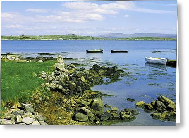 Saloons Greeting Cards - Roundstone, Connemara, Co Galway Greeting Card by The Irish Image Collection