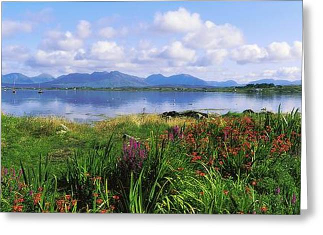 Mountain Greeting Cards - Roundstone, Connemara, County Galway Greeting Card by The Irish Image Collection