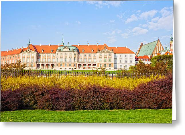 Royal Castle in Warsaw Greeting Card by Artur Bogacki