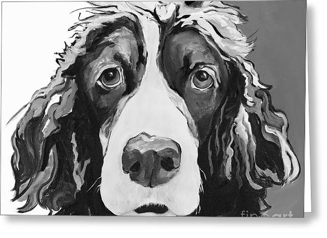 Sad Eyes Greeting Cards - Sadie Greeting Card by Pat Saunders-White