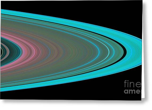 21st Greeting Cards - Saturns Rings Greeting Card by NASA / Science Source