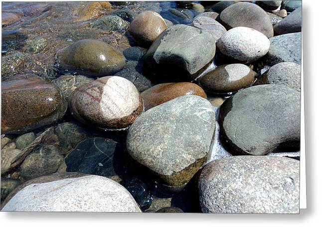 Pebbles Greeting Cards - Sauble Pebbles Greeting Card by Merv Scoble