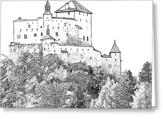 Schloss Tarasp Greeting Cards - Schloss Tarasp Switzerland Greeting Card by Joseph Hendrix