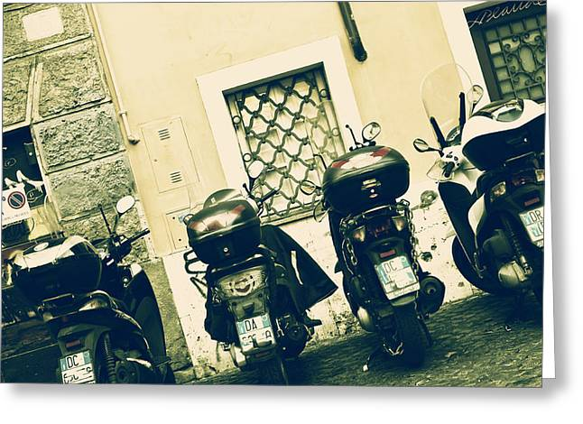Motor Scooters Greeting Cards - Scooter Greeting Card by Joana Kruse
