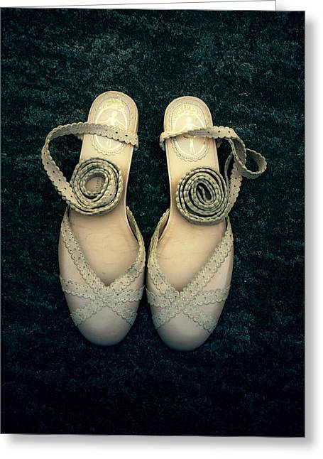 Leather Straps Greeting Cards - Shoes Greeting Card by Joana Kruse