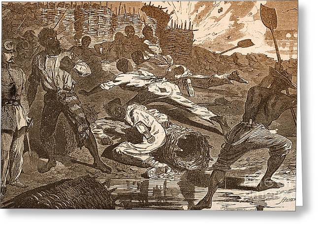 African American History Greeting Cards - Siege Of Vicksburg, 1863 Greeting Card by Photo Researchers
