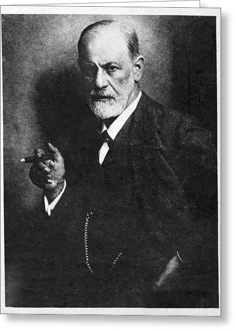 Sigmund Freud, Austrian Psychologist Greeting Card by Humanities & Social Sciences Librarynew York Public Library