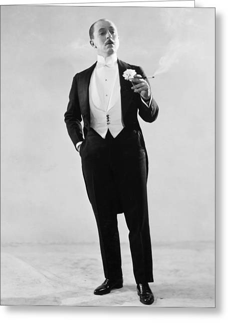 Cigarette Holder Greeting Cards - Silent Film Still: Fashion Greeting Card by Granger