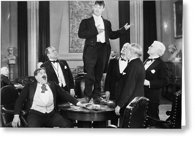 Bowtie Photographs Greeting Cards - Silent Film Still: Gambling Greeting Card by Granger
