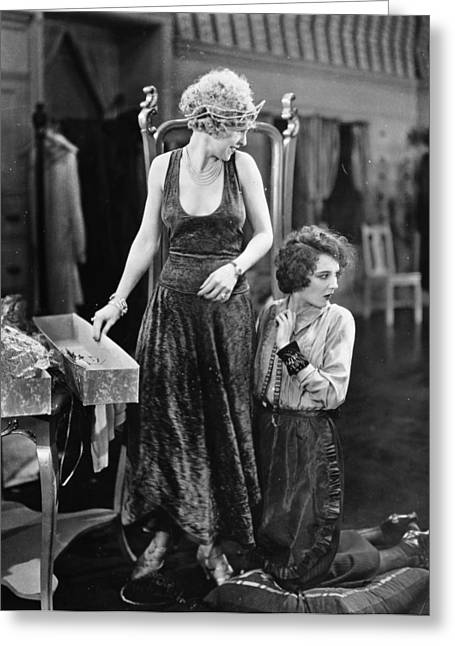 Ecwork Greeting Cards - Silent Film Still: Sewing Greeting Card by Granger