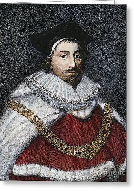 Attorney Greeting Cards - Sir Edward Coke (1552-1634) Greeting Card by Granger