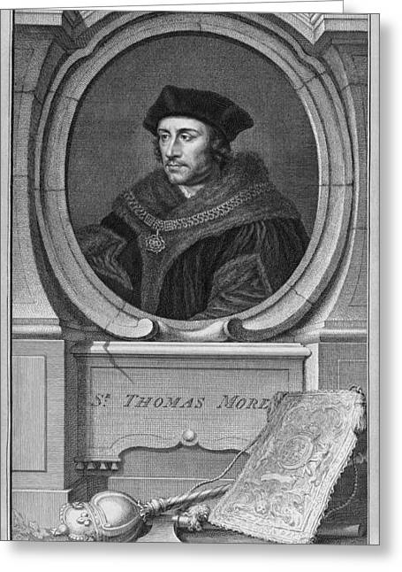 Henry Viii Greeting Cards - Sir Thomas More, English Statesman Greeting Card by Middle Temple Library