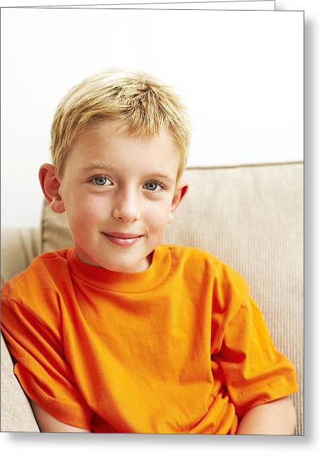 Child Care Greeting Cards - Smiling Boy Greeting Card by Ian Boddy