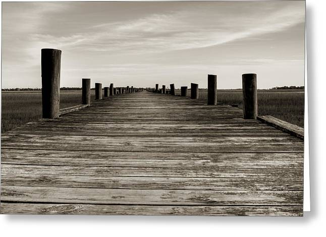 Vanishing Greeting Cards - Sol Legare Dock Greeting Card by Dustin K Ryan