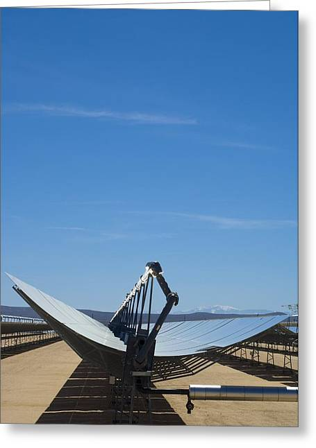 Solar Parabolic Mirror, California, Usa Greeting Card by David Nunuk