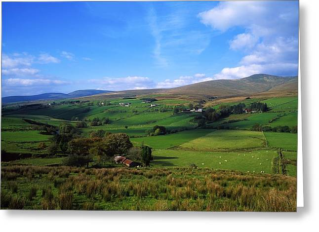Recently Sold -  - Mountain Valley Greeting Cards - Sperrin Mountains, Co Tyrone, Ireland Greeting Card by The Irish Image Collection