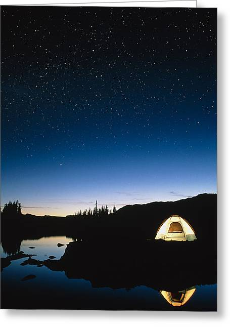 Starry Reflections Greeting Cards - Starry Sky Greeting Card by David Nunuk
