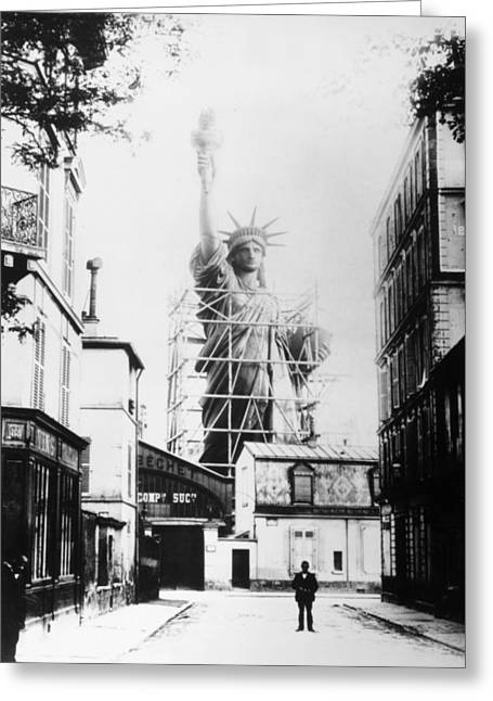 Workshop. Greeting Cards - Statue Of Liberty, Paris Greeting Card by Granger