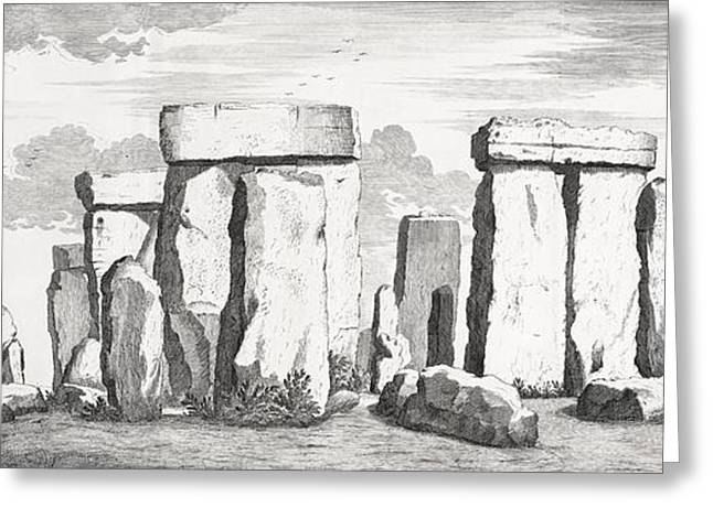 Most Greeting Cards - Stonehenge, 17th Century Artwork Greeting Card by Middle Temple Library