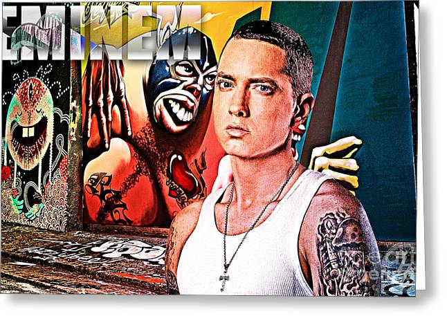 Shady Street Greeting Cards - Street Phenomenon Eminem Greeting Card by The DigArtisT