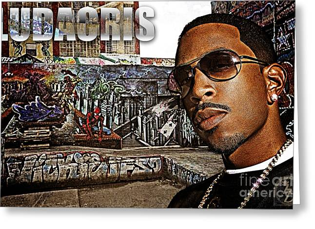 Rnb Greeting Cards - Street Phenomenon Ludacris Greeting Card by The DigArtisT