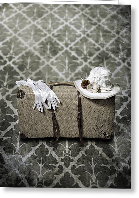 Sun Hat Greeting Cards - Suitcase Greeting Card by Joana Kruse