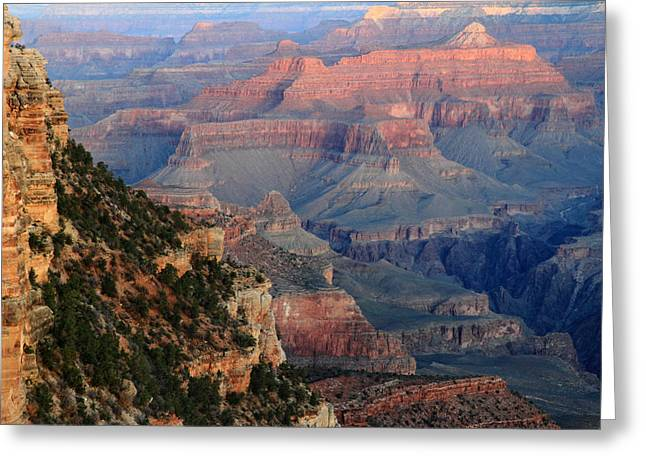 World Wonder Greeting Cards - Sunrise at Grand Canyon Greeting Card by Pierre Leclerc Photography