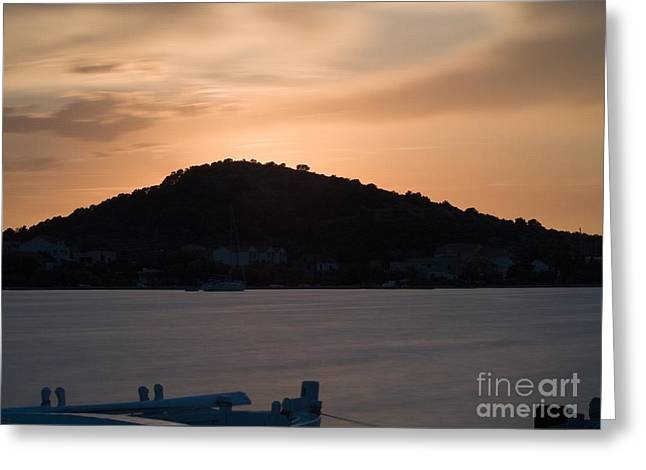Sunset Greeting Card by Odon Czintos