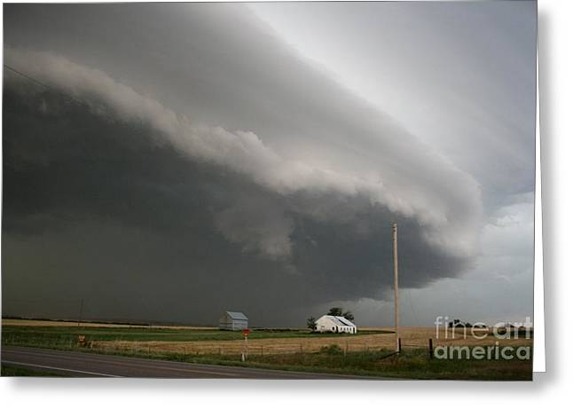 Rotate Greeting Cards - Supercell Thunderstorm Greeting Card by Science Source