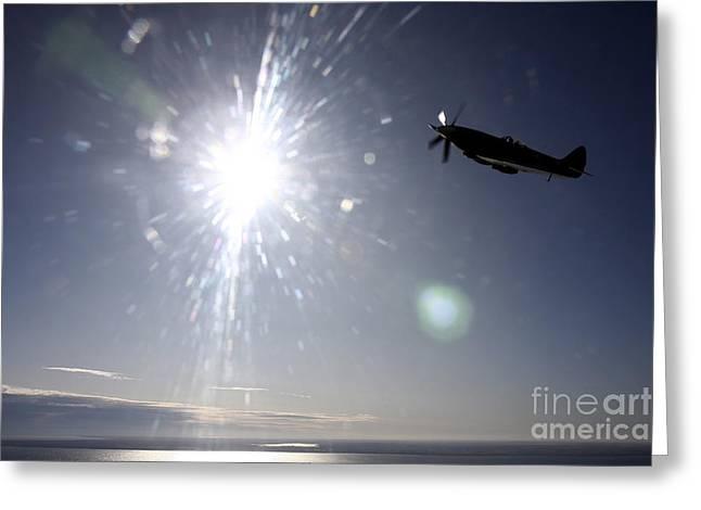 Supermarine Spitfire Mk. Xviii Fighter Greeting Card by Daniel Karlsson